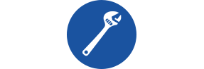 Wrench Icon for Plumbing Installation